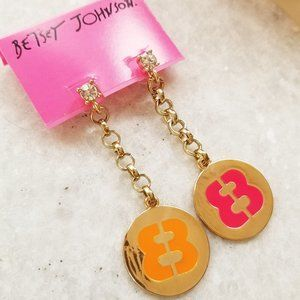 "NWT Betsey Johnson Status ""88"" Stud Earrings"